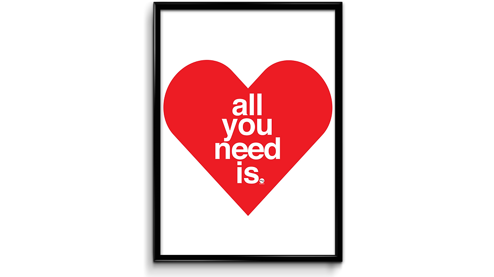 All you need is love - plakat