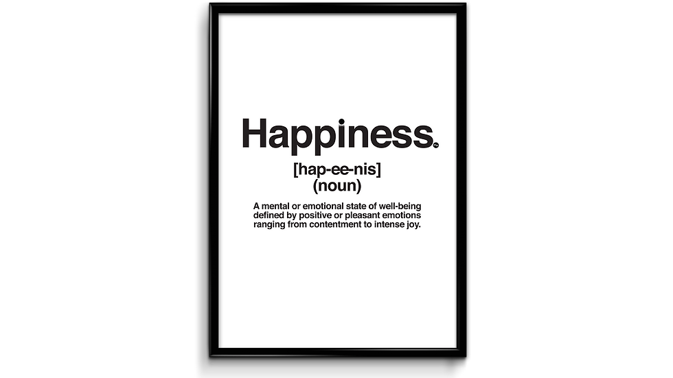 Happiness definition - plakat
