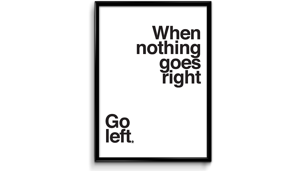 When nothing goes right - plakat