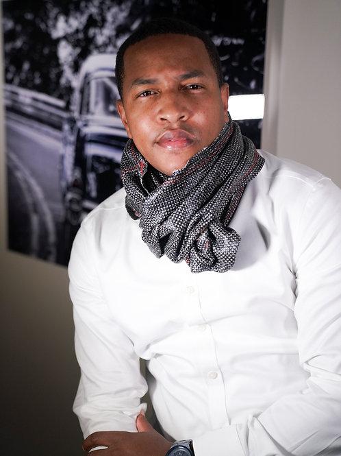 Italian Tweed Black & White Infinity Scarf