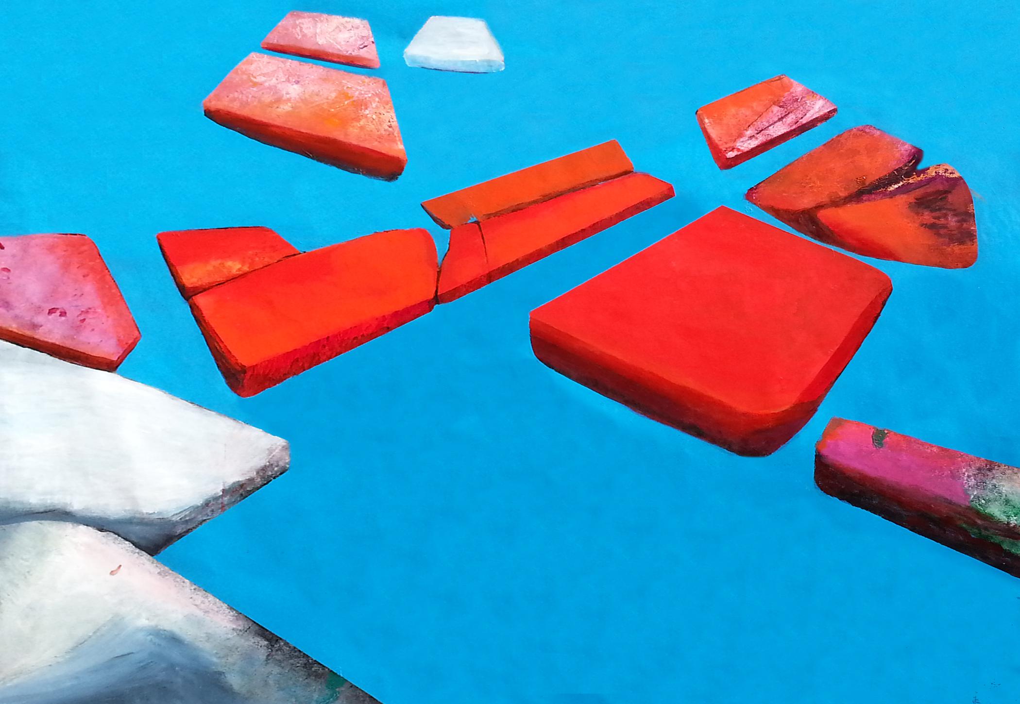 Verso l'ignoto - 145x210 cm