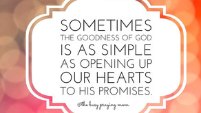 Let's simply open our hearts to God's goodness.
