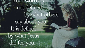 Your worth is found in Him.