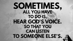 Open your ears to God's voice