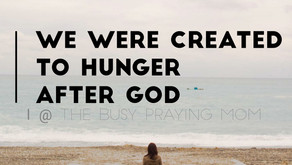Our purpose lies in our hunger for God.