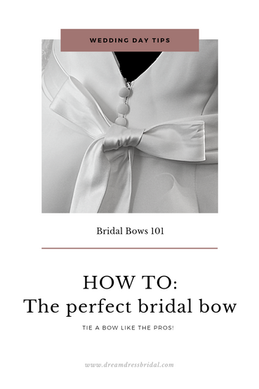 HOW TO: Tie the PERFECT bridal bow with ease!