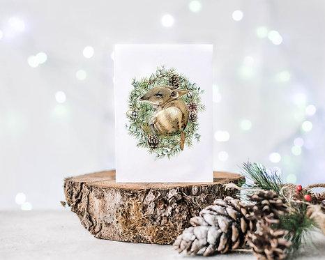 Australiana Bandicoot Christmas Card