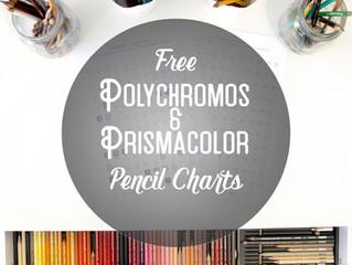 Polychromos & Prismacolor Colour Pencil Charts - Free Download