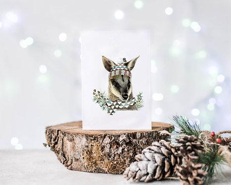 Australiana Wallaby Christmas Card