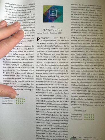Rezension Playgrounds (new press article)