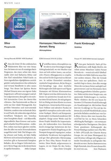 Rezension (new press article)