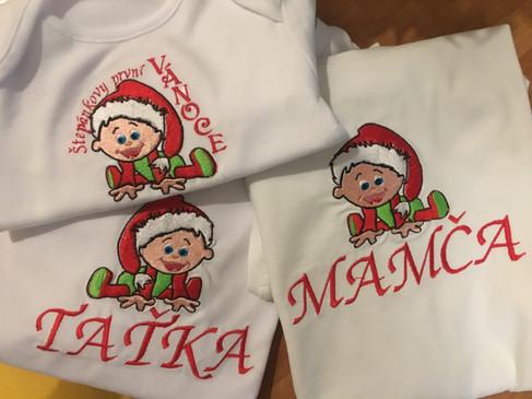 vánoční trička pro rodinku