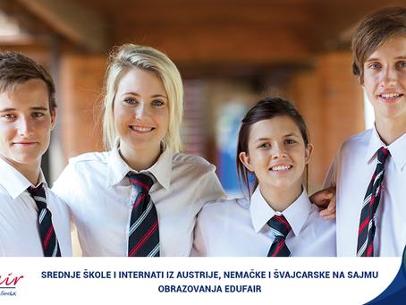 EDUfair - 6. i 7. mart, Srednje škole i internati iz Austrije, Nemačke i Švajcarske na sajmu obrazov