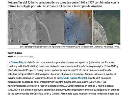 El País se hace eco del reciente estudio co-firmado por Jose M. Costa sobre campamentos romanos en E