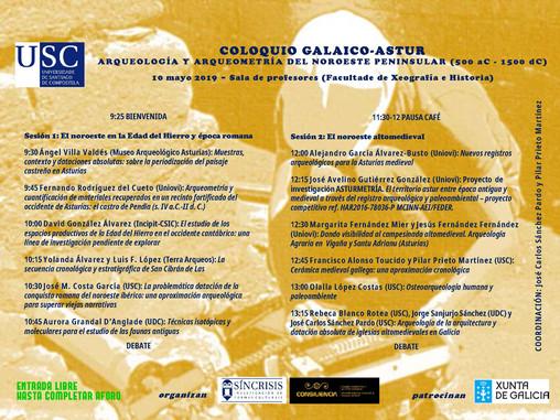 Coloquio Galaico-Astur. Arqueología y arqueometría del noroeste peninsular (500 a.C. - 1500 d.C.) (C
