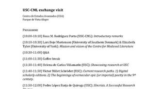 Xornada científica de traballo de coorperación internacional: USC (España) - CML (Dinamarca)