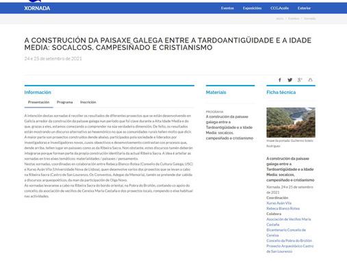 A construción da paisaxe galega entre a Tardoantigüidade e a Idade Media