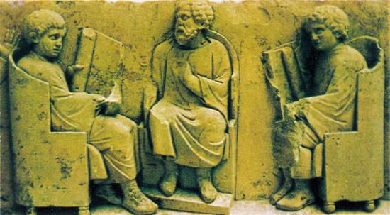 Escuela de la antigua roma.