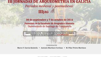 III Jornadas de Arqueometría en Galicia