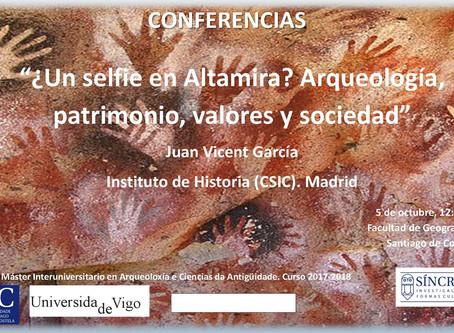 Conferencia de Juan Vicent en la Facultade de Xeografía & Historia de la USC