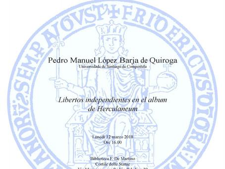 Conferencia: Libertos independientes en el album de Herculaneum (Nápoles, 12 marzo)