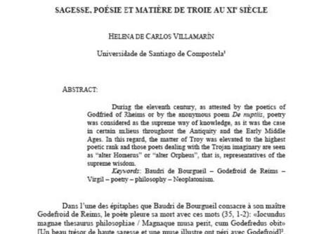 Sagesse, poésie et matière de Troie au XIe siècle