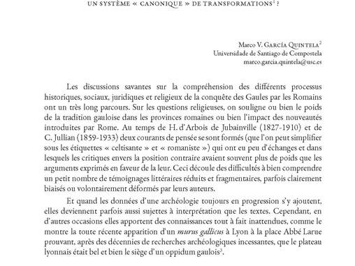 Du Mercure gaulois à la colonie romaine de Lugdunum: un système « canonique » de transformations?, e