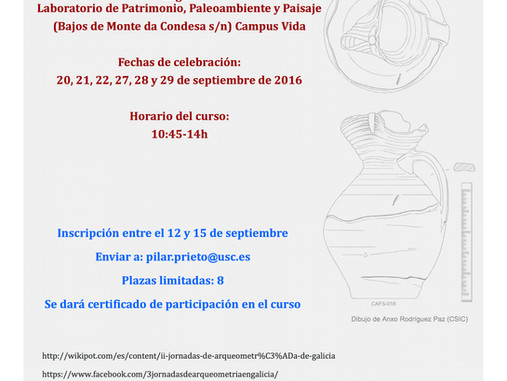 Curso de cerámica medieval. Tratamiento y gestión de materiales arqueológicos