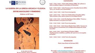 Webinar, ´La guerra en la Grecia arcaica y clásica: Entre masculino y femenino´
