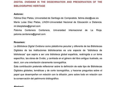 Patrimonio selecto: Reflexiones sobre el papel de la Biblioteca Digital Ovidiana y la difusión y con