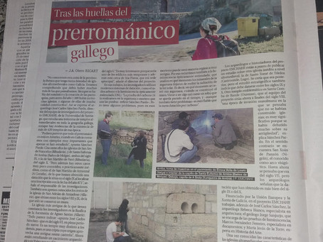 Tras las huellas del prerrománico gallego (Faro de Vigo, 13.03.2019)