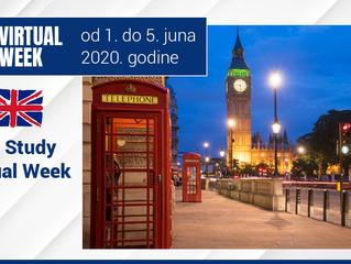 Studiranje u Engleskoj  - UK Study Virtual Week  - od 1. do 5. juna 2020. godine