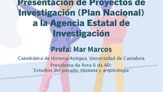 Conferencia de Mar Marcos: Presentación de Proyectos de Investigación a la AEI (Área 6)