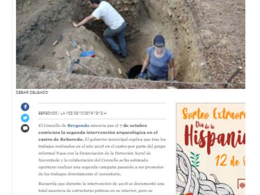 Escavación arqueolóxica no Castro de Reboredo en Bergondo