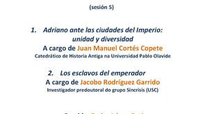 3er Seminario de Investigación do grupo Síncrisis: Adriano ante las ciudades del Imperio