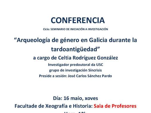 Seminario de Iniciación á investigación:  Arqueología de género en Galicia durante la tardoantigüeda