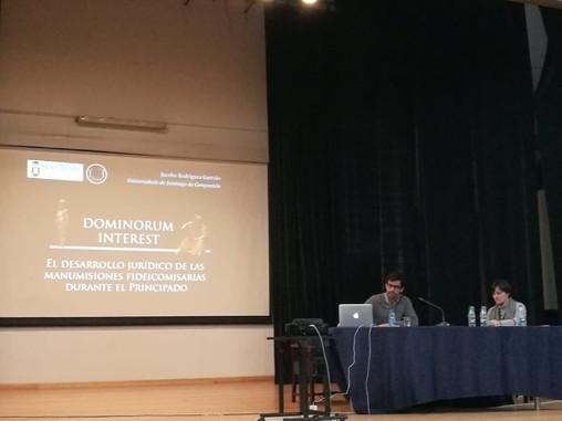 Clara Ramos Taboada y Jacobo Rodríguez Garrido en el XLI congreso del GIREA (Coimbra, 8-10 de noviem