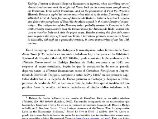 Rodrigo Jiménez de Rada y la compilación historiográfica del Códice de Bamberg Hist. 3