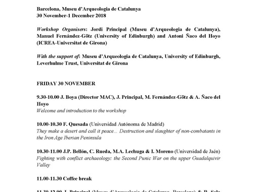 International Workshop From battlefields to memory sites: Conflict archaeology through the ages (Bar