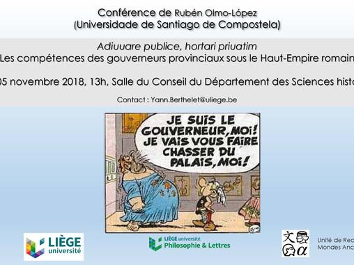 Conferencia Adiuuare publice, hortari priuatim. Les compétences des gouverneurs provinciaux sous le