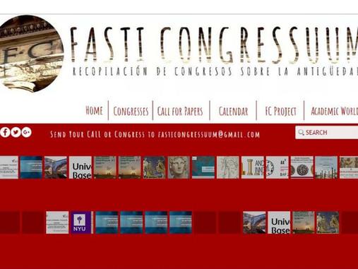 Fasti Congressuum. Recopilación de Congresos sobre la Antigüedad