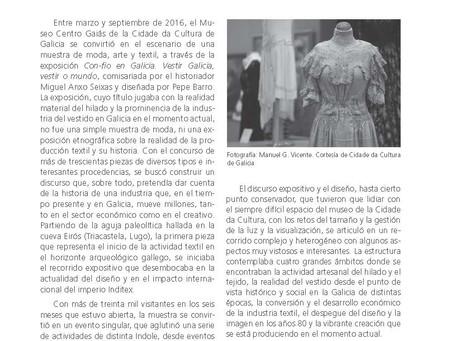 """Tejidos, vestidos e imágenes. La exposición """"Con-fío"""" en Galicia"""