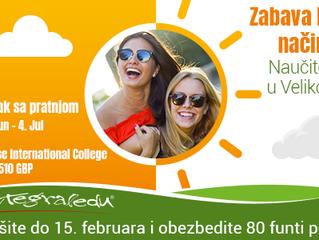 Nauči engleski u lokalnom okruženju - letnji kamp u britanskom internatu! Rezervišite do 15. februar