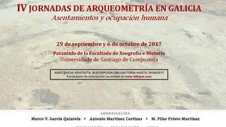 IV Jornadas de Arqueometría en Galicia. Asentamientos y ocupación humana