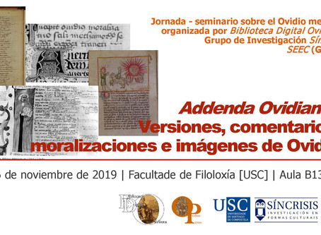 Jornada-seminario sobre el Ovidio medieval: ´Addenda Ovidiana´: Versiones, comentarios, moralizacion
