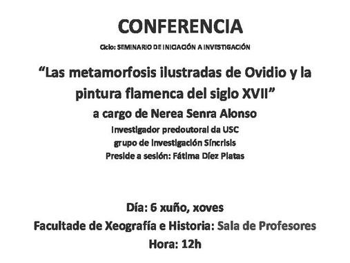 Seminario de Iniciación á investigación:  Las Metamorfosis ilustradas de Ovidio y la pintura flamenc