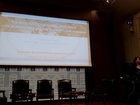 Fátima Díez Platas presenta Biblioteca Digital Ovidiana (Ovidius Pictus) en la BNE