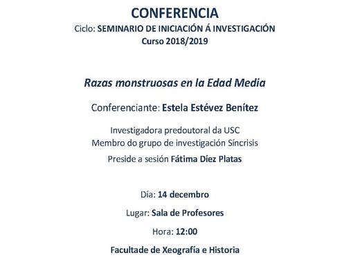 Seminario de Iniciación á investigación: Razas monstruosas en la Edad Media (Santiago de Compostela,