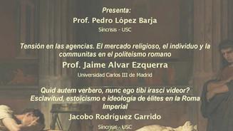 IV Seminario de iniciación á investigación: Prof. Jaime Alvar Ezquerra