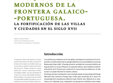 """Artigo """"Paisajes urbanos modernos de la frontera galaico-portuguesa. La fortificación de las vi"""